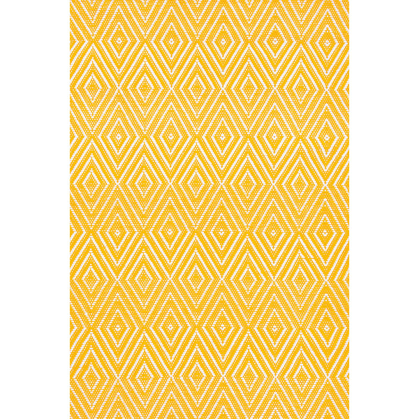 Dash & Albert - Diamond Canary/White Indoor/Outdoor Rug