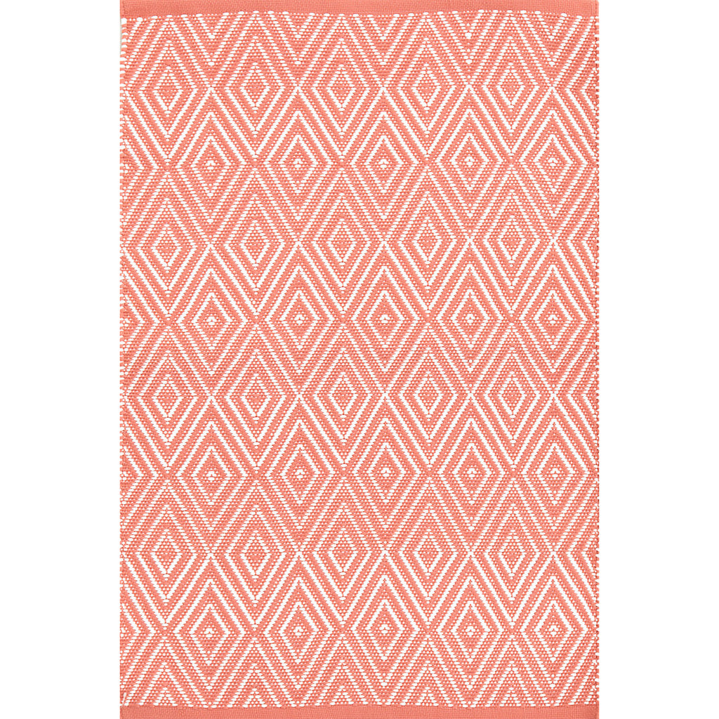 Dash & Albert - Diamond Coral/White Indoor/Outdoor Rug
