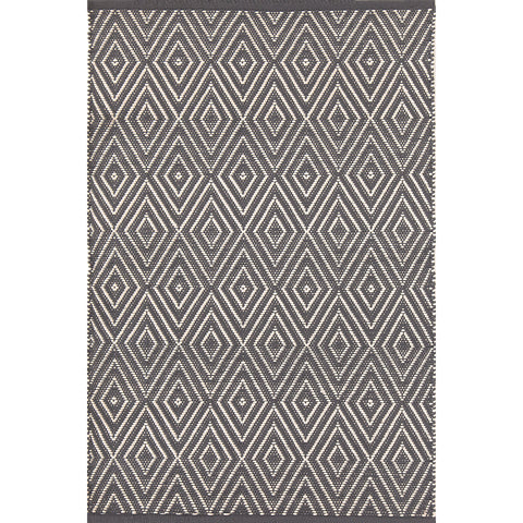 Dash & Albert - Diamond Graphite/Ivory Indoor/Outdoor Rug
