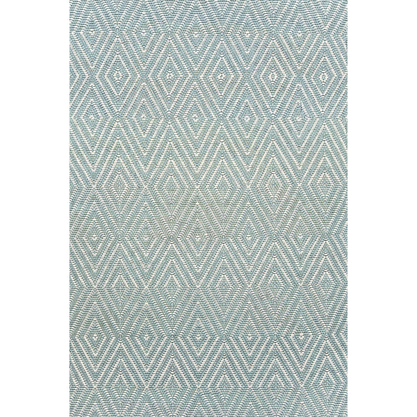 Dash & Albert - Diamond Light Blue/Ivory Indoor/Outdoor Rug