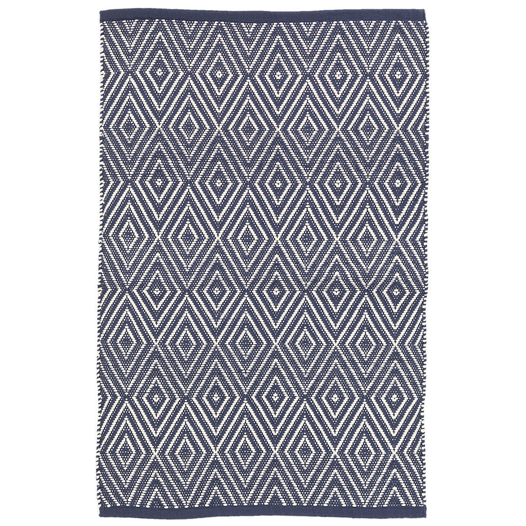 Dash & Albert - Diamond Navy/Ivory Indoor/Outdoor Rug