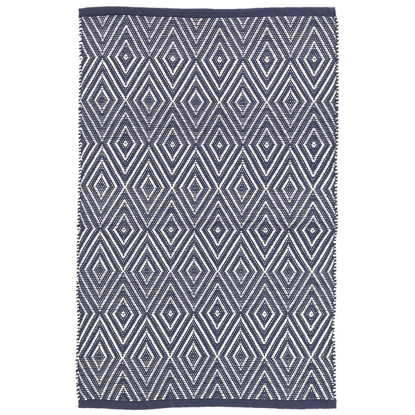 Dash & Albert - Diamond Navy/White Indoor/Outdoor Rug