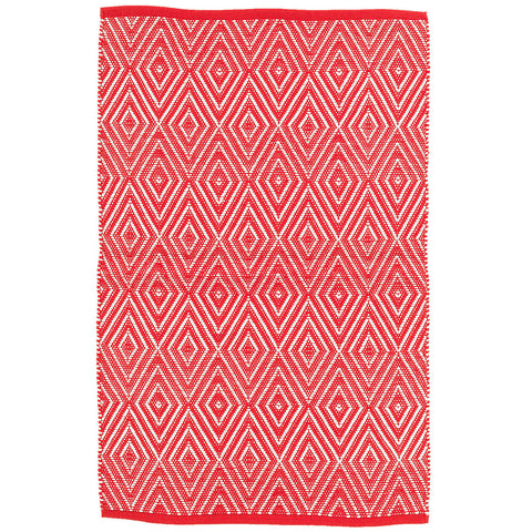 Dash & Albert - Diamond Red/White Indoor/Outdoor Rug