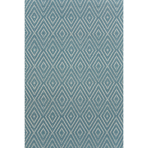 Dash & Albert - Diamond Slate/Light Blue Indoor/Outdoor Rug
