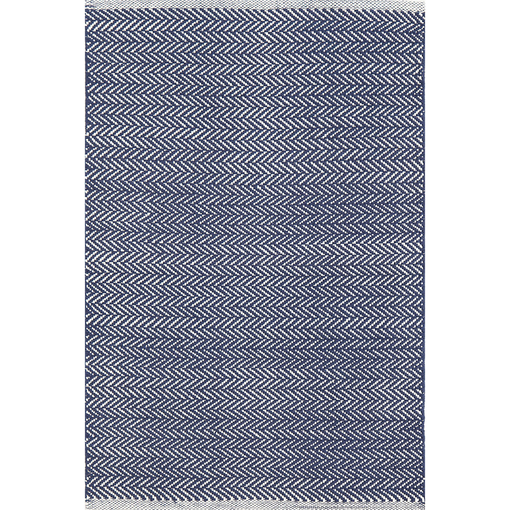 Dash & Albert - Herringbone Indigo Woven Cotton Rug