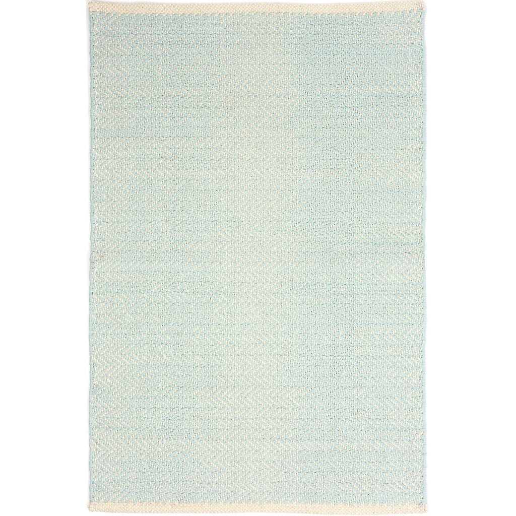 Dash & Albert - Herringbone Sky Woven Cotton Rug