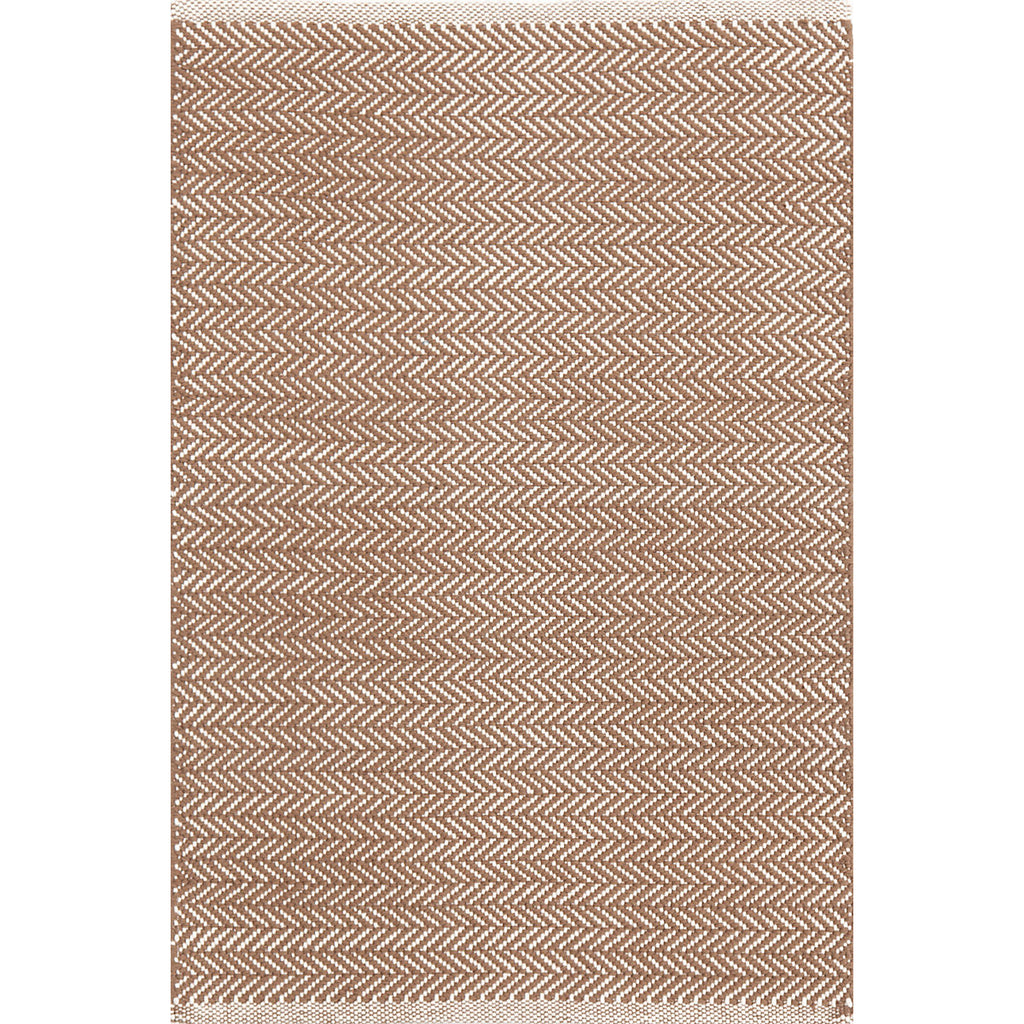Dash & Albert - Herringbone Stone Woven Cotton Rug