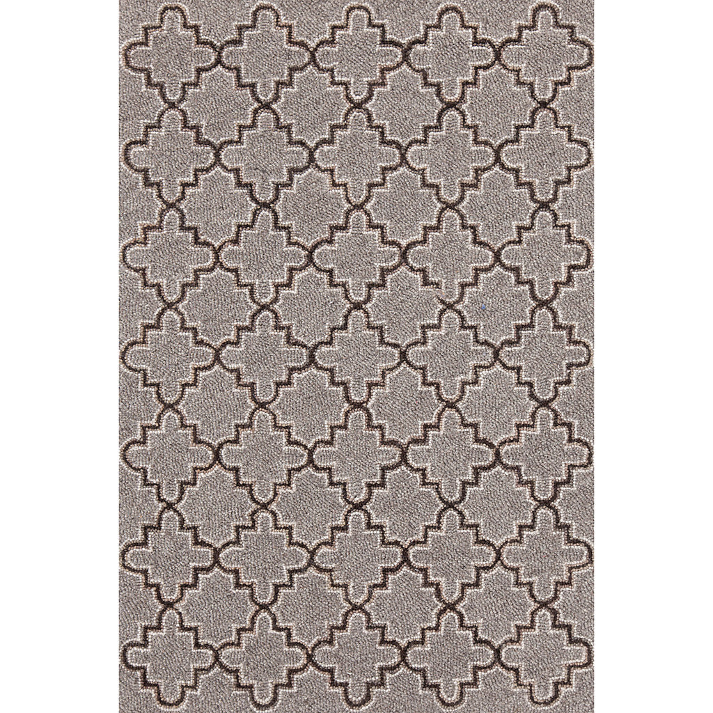 Dash & Albert - Plain Tin Grey Wool Micro Hooked Rug