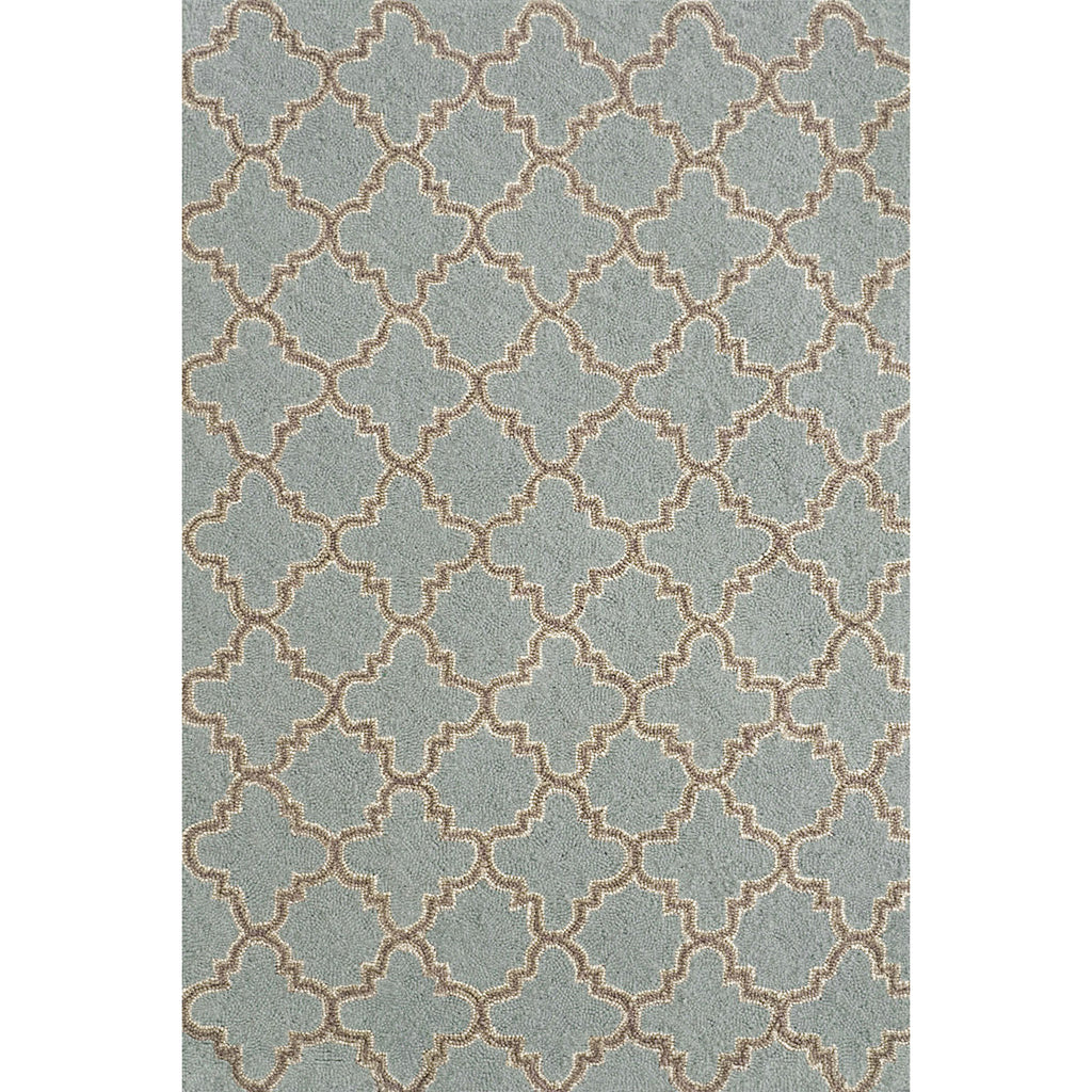 Dash & Albert - Plain Tin Slate Wool Micro Hooked Rug