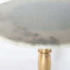 Lucy Side Table - Bright Brass