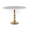 Lucy Dining Table - Bright Brass