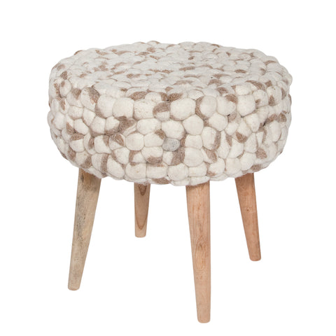 Bohemian Stool - Felted Wool