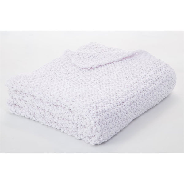 Bulky White Throw