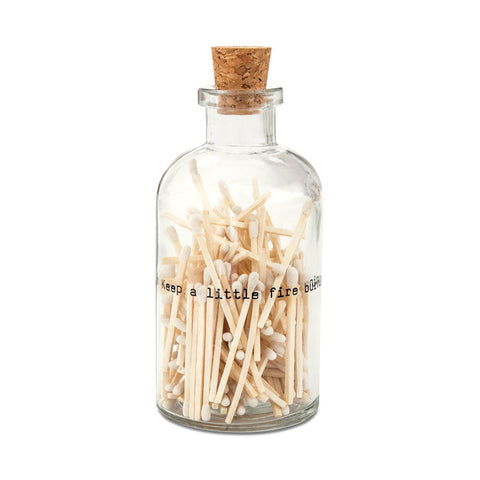 Poetry Small - Apothecary Match Bottle