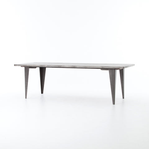 Charcoal and Iron Dining Table