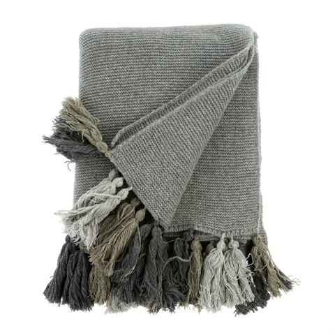 Chunky Tassel Throw