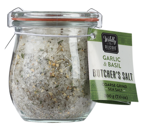 Garlic & Basil Butcher's Salt