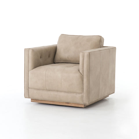 Kiera Leather Swivel Chair