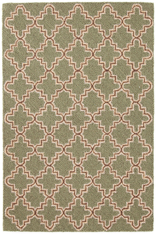 Dash & Albert - Plain Tin Basil Wool Micro Hooked Rug