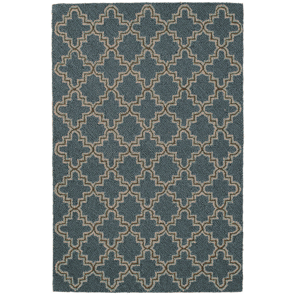 Dash & Albert - Plain Tin Cadet Wool Micro Hooked Rug