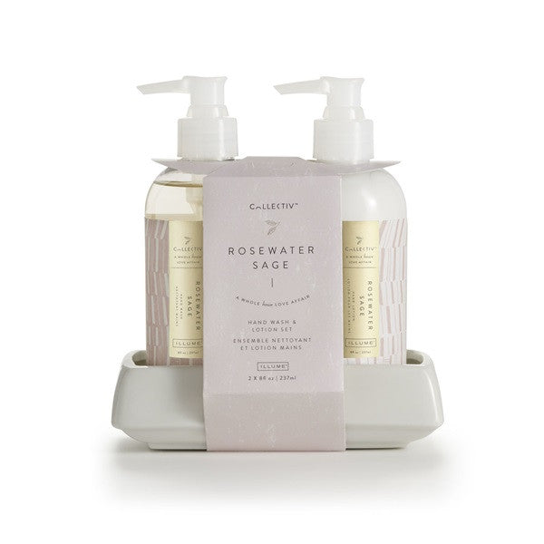 Rosewater Sage Hand Wash & Lotion Set