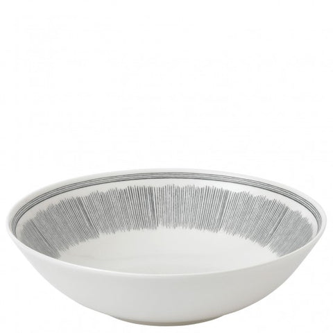 Ellen DeGeneres Grey Lines Serving Bowl