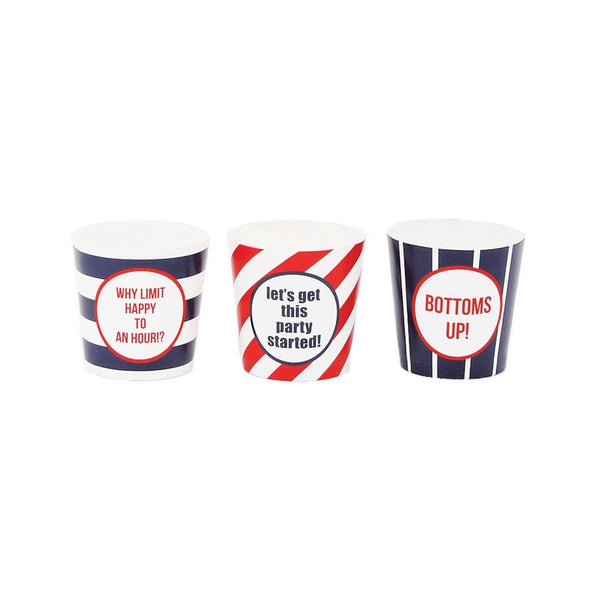 Assorted Striped Shot Cups