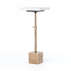 Sirius Adjustable Side Table - Antique Brass