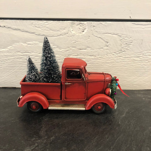 Red Truck Christmas Decor