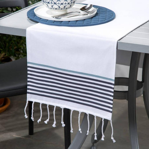 Table Runner - Tassles & Stripes