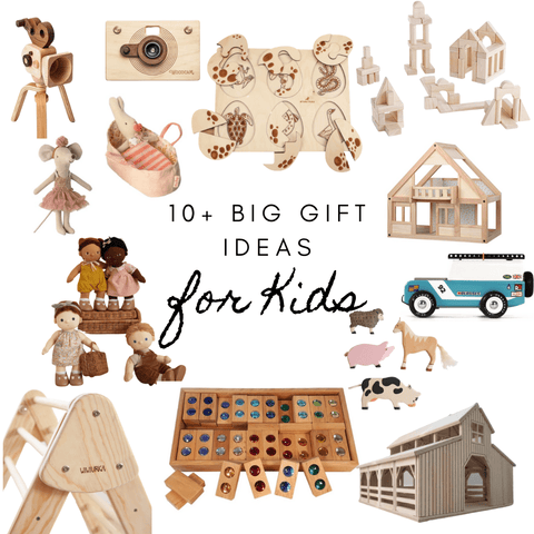 Gift buying can feel overwhelming at times so I have curated a list of our favorite toys to simplify shopping! Click the affiliated links to shop directly from your home, car, office, or wherever you are. These gifts are open-ended and are great for a wide range of ages.