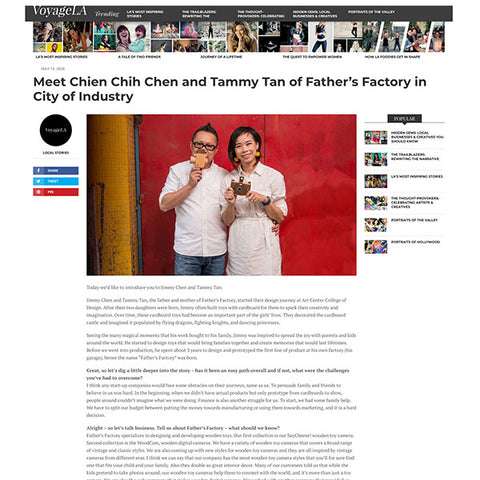 Father's Factory featured on Voyage LA