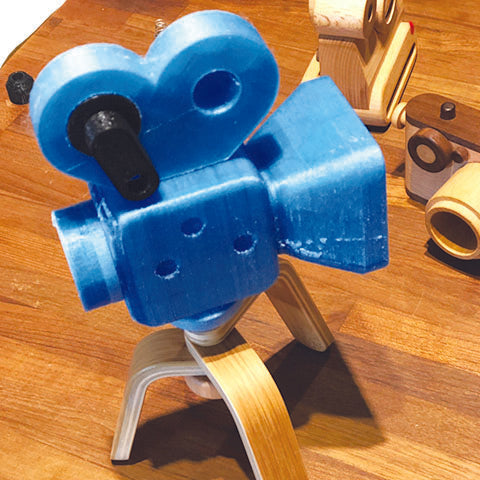 Super 16 wooden toy camera design process utilizing 3D printing technology