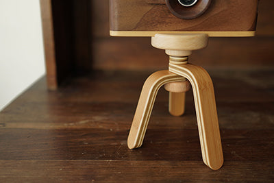 Father's factory classic one wooden digital camera in play for nature study. it's a perfect nature inspired gift for children, the nature study edition. It come with a display wooden tripod