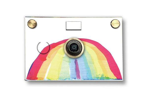 Father's Factory Rainbow PaperCam paper digital camera is a fun and easy to use working digital camera with recycled paper case for any beginner photographers.