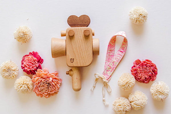 Super 8 Wooden Toy Camera Value Gift Set ($66 Value)