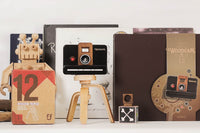 Father's Factory wooden digital camera is a working digital camera with wooden case. It's a versatile, classic, and timeless. This digital camera is for beginner photographer, homeschooling, and anyone who loves experimenting the art of photography. This camera is made of walnut and beechwood with heirloom quality. High quality wooden toys, wooden toy camera for kids of all ages