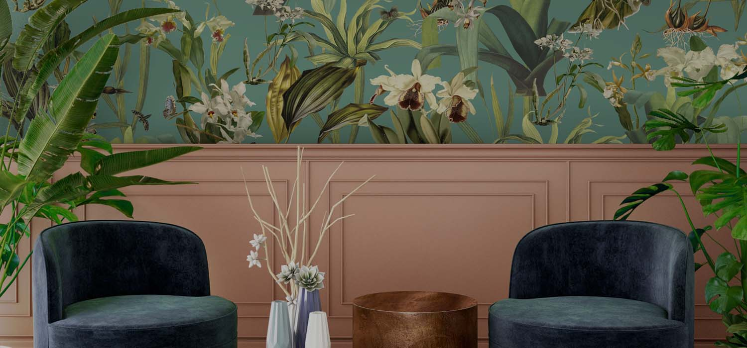 Robin Sprong modern wallpaper is designed by top international designers. Designs include floral, bold print wallpaper, patterned wallpaper and completely bespoke wallpaper.  Sarza store in Rye, New York, is exclusive USA distributor for Robin Sprong