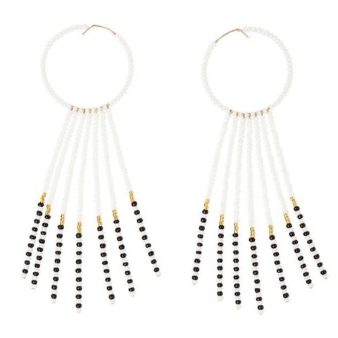 SIDAI DESIGN JEWELRY, Porcupine Earrings - white, black & gold