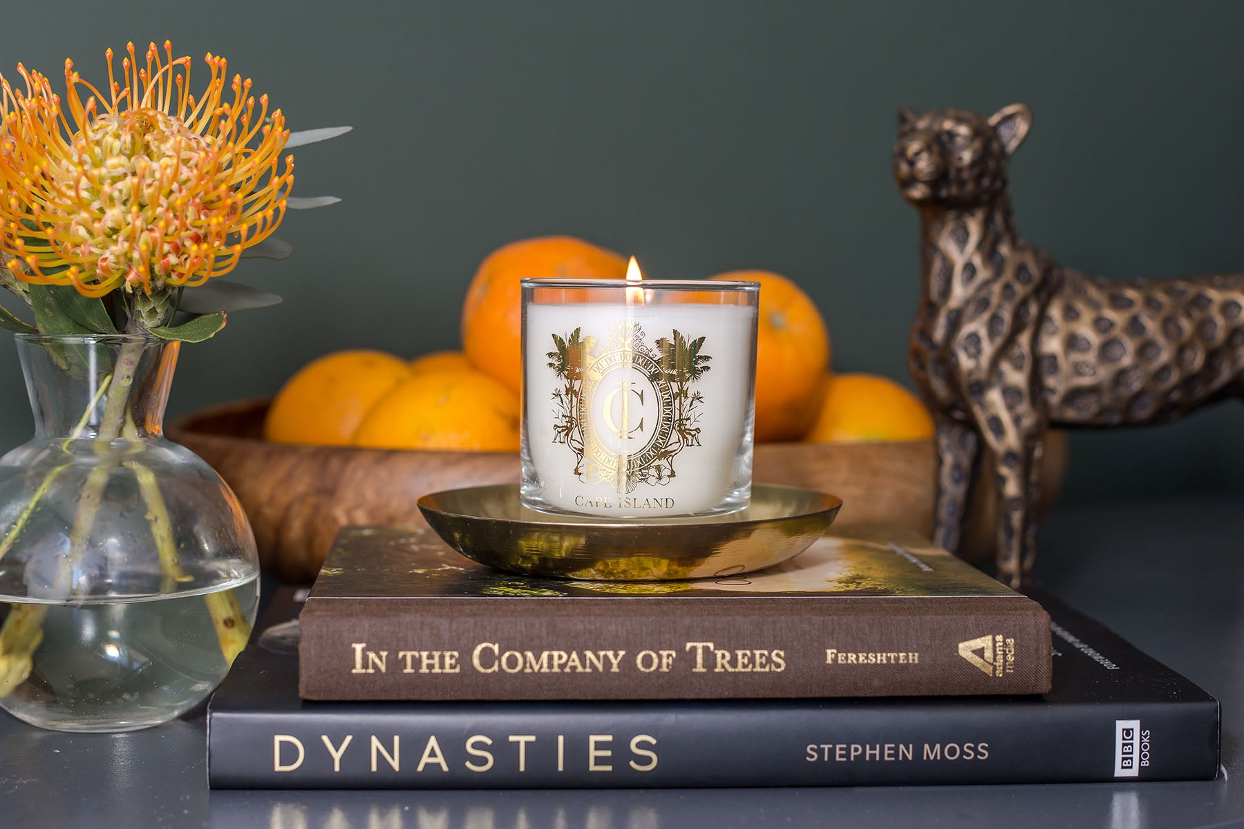 The Cape Island Safari Days candle Cape Island luxury candles, soap products and home fragrances are available at Sarza home goods and furniture store in Rye New York.
