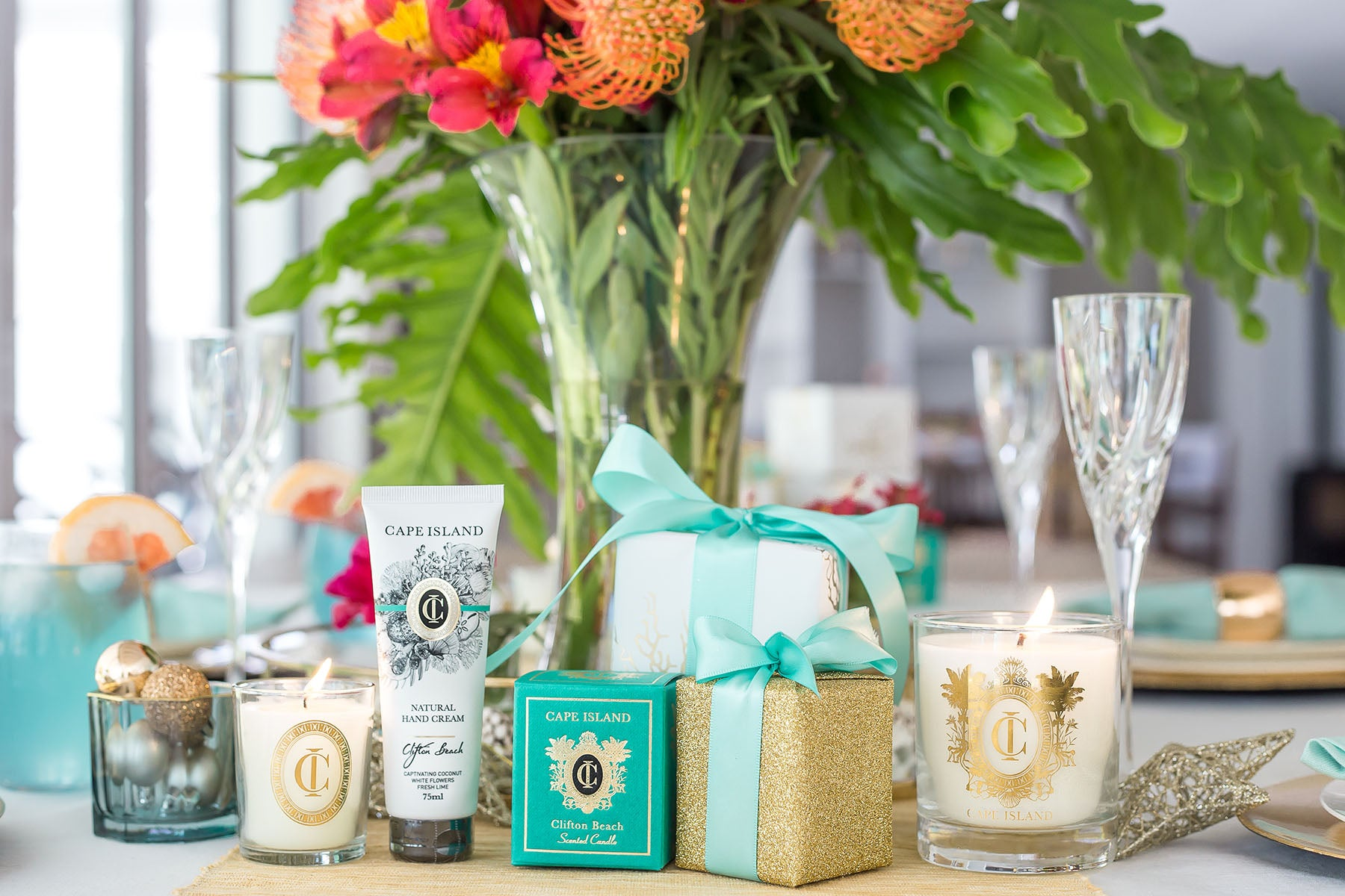 The Cape Island Clifton Beach candles. Cape Island luxury candles, soap products and home fragrances are available at Sarza home goods and furniture store in Rye New York.