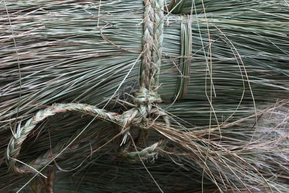 Bundle of Lutindzi  grass, harvested in Swaziland and used by Gone Rural to create home goods such as coasters and placemats.