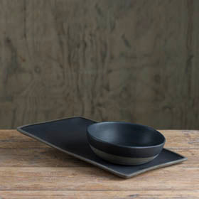 Prêt-à-Pot handmade ceramic plate and bowl available at Sarza home goods and furniture store, Rye, New York.