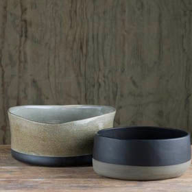 Prêt-à-Pot handmade ceramic bowls available at Sarza home goods and furniture store, Rye, New York.