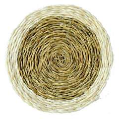 Gone Rural round grass woven coasters