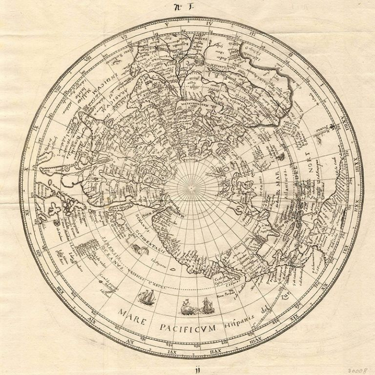 Old Map of the North Pole