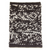 WOOLEN RUG - BROWN CHARCOAL & CREAM WITH BROWN CHARCOAL SHADOW LINE