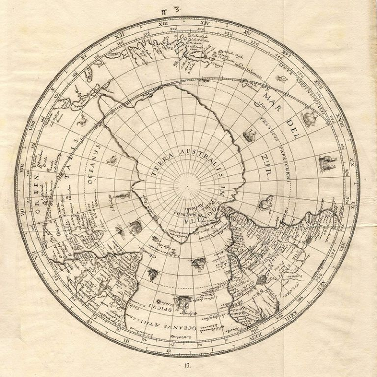 Old Map of the South Pole