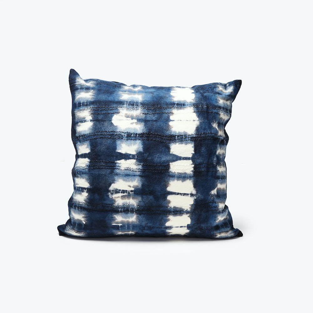 ADIRE THROW PILLOW INDIGO by Chic Fusion at SARZA. adire, Chic Fusion, cushion covers, Decor, homeware, indigo, scatter cushions, throw pillows