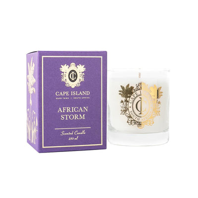 AFRICAN STORM CANDLE MEDIUM by Cape Island at SARZA. candles, Cape Island, Classic candles, decor, homeware, medium, Soy candles
